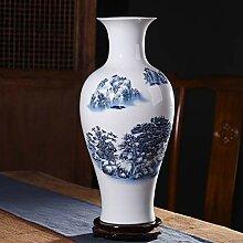 Chinesische Keramik-vase mit ständer Weiß Große