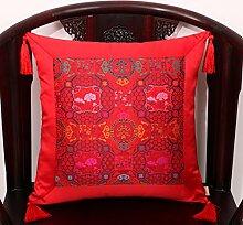 Chinesische klassische Garten Kissen/ Büro des lumbalen Kissen/ zurück auf dem Bett/ Auto-Taille/Kissen-T 50x50cm(20x20inch)VersionA
