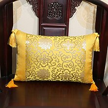 Chinesische klassische Kissen/Chinese Sofakissen/Büro Lendenkissen/Bett Rückenlehne/Automotive Gürtel-I 60x60cm(24x24inch)VersionB