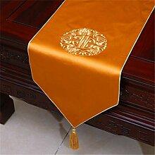 Chinesische Klassische Stickerei Stoff Tischfahne,