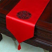 Chinesische Klassische Stickerei Tuch Tischfahne,
