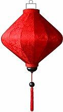 Chinesische Lampion Diamant Rot by Lampionsenzo