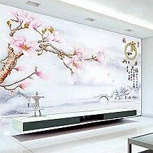 chinesische Landschaft großes Wandbild 3D Vlies