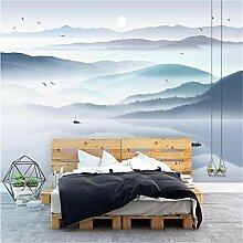 Chinesische nahtlose 3d Wandfarbe Tinte Landschaft