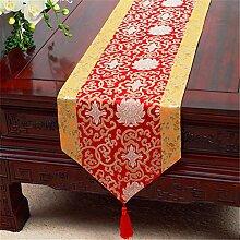 Chinesische Pastoraldruck Seite Esstisch Flagge,