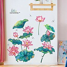 Chinesische pastorale Wohnzimmer Aquarell Lotus