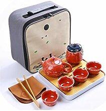Chinesische Reise Kung Fu Teeset Keramik Tragbare