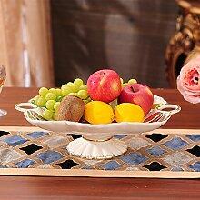 ChinesischeRetro,KeramikSchale,Heimtextilien,ObstObstteller,36 * 25,5 * 10