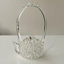 Chinesische Teekanne aus Glas Dekoration von