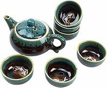 Chinesische Teekanne aus Porzellan, mit losen