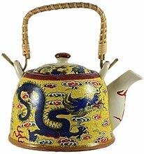Chinesische Teekanne - Gelber Drache