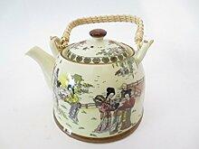 Chinesische Teekanne Weiß mit Motiv (chinesische,