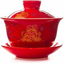 Chinesische Teetasse Keramik Teekanne Teekessel