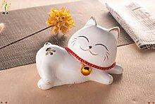 Chinesische Tier Keramik Katze Ornamente