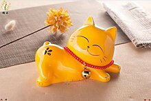 Chinesische Tierkeramik Katze Ornamente