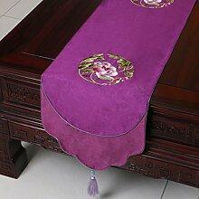 Chinesische Tischfahne Europäische Und Amerikanische Stil Tabelle Couchtisch Fahne Bett Fahne Tischset Stickerei Stoff Tischdecke,A10