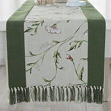 Chinesische Tischl?ufer/Modernes und schlichtes Bett Baumwollschals/Couchtisch-Tisch-Flagge-A 38x180cm(15x71inch)