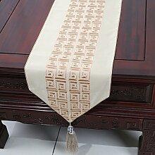 Chinesische Tischl?ufer/Tischfahne Couchtisch/Bett-banner/Besticktem Stoff Tischdecke-B 33x270cm(13x106inch)