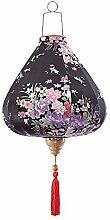 Chinesische Tuch Laterne gemalt Schwarze Blumen