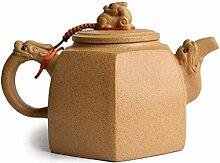 Chinesische Yixing-Teekanne mit Drachen-Löwe,