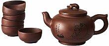 Chinesische Yixing Zisha Tee Set, Handgemachte