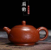 Chinesische Yixing Zisha Teekanne, Handgemachte