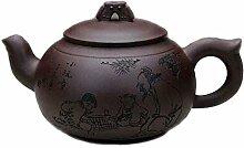 Chinesische Yixing Zisha Teekannen, Handgemachte