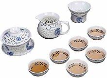 Chinesische Zisha Kungfu Teekanne Teeservice color