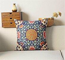 Chinesischen ethnischen Stil / Baumwolle Leinen Mischung dekorative Sofa Kissen / Kissen , 44 , d