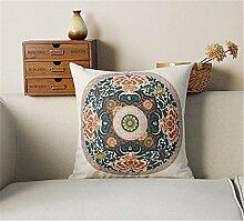 Chinesischen ethnischen Stil / Baumwolle Leinen Mischung dekorative Sofa Kissen / Kissen , 44 , b