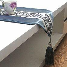 Chinesischen Stil Esstisch Tischläufer,Couchtisch Tischläufer,Bett-runner-A 30x180cm(12x71inch)