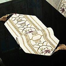 Chinesischen Stil Leinen Stickerei Tischfahne Stoffdekoration Luxus Tischdecke Klassisch Wild Tischmatten Couchtisch Dekoration Einrichtungsgegenstände Bettwäsche