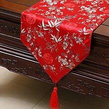 Chinesischen Stil Pastorale Tischläufer/Tischdecke/Tee Tischdecke/Stoff-tischdecke-A 33x300cm(13x118inch)