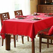 Chinesischen Stil Runde Tischdecke/Stoff Baumwolle Tischdecke/Tischläufer/Bedeckung-tuch-A Durchmesser180cm(71inch)