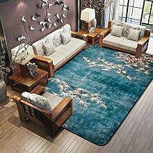 Chinesischen Wind Teppich modernen chinesischen Wohnzimmer Schlafzimmer Bett voller Boden breiten Teppich rechteckig ( größe : 160*230cm )