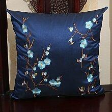 Chinesischer Garten Stickerei-Kissen/ Büro des lumbalen Kissen/ zurück auf dem Bett/ Auto-Taille/Kissen/Kissen-I 45x45cm(18x18inch)