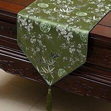 Chinesischer Garten Tischl?ufer/ischdecke / Tischdecken / Tischabdeckung/Tetabellentuch/Bett-banner/Z?hler-Flagge/Lange Tischdecken-S 33x300cm(13x118inch)