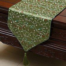 Chinesischer Garten Tischl?ufer/ischdecke / Tischdecken / Tischabdeckung/Tetabellentuch/Bett-banner/Z?hler-Flagge/Lange Tischdecken-P 33x230cm(13x91inch)