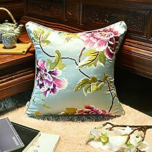 Chinesischer stil kissenbezug sofa kissenbezug stickerei blume kissenbezug-A 30x45cm(12x18inch)versionA