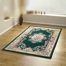 Chinesischer Teppich, Wolle in dunkelgrün