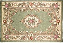 Chinesischer Teppich, Wolle in grün handgefertigt