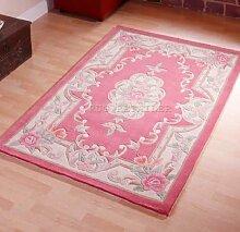 Chinesischer Teppich, Wolle in Rose pink