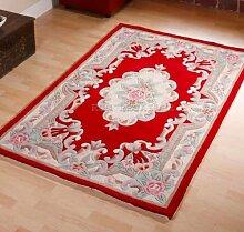 Chinesischer Teppich, Wolle in rot handgefertigt