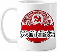 Chinesisches Partyemblem Rot Patriotism Tasse