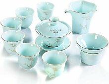Chinesisches Tee-Set Hochwertiges Porzellan 9