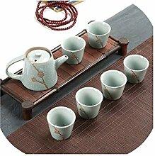Chinesisches Teeservice aus Porzellan mit