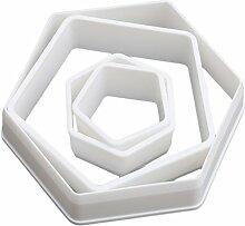 Chinget 4 Stücke Weißes Kunststoff Fondant