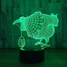 Chinken 3D Night Light 7 Color Led-Leuchten