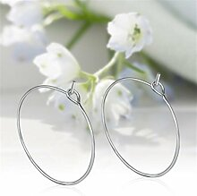 chinkyboo 100 x SP Wein Glas Charme Ringe Hoops 25 mm