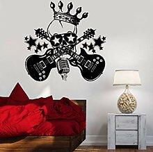 CHIPYHOME Aufkleber Totenkopf Rock für Zimmer,
